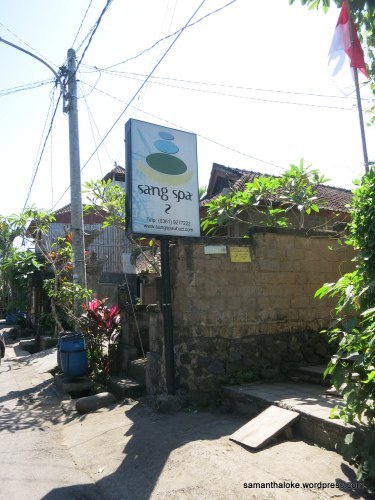Sang Spa! In Ubud