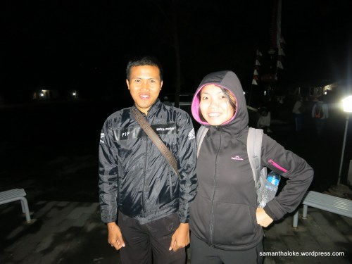 With Galung, before Mt. Batur sunrise hike